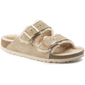 Birkenstock Arizona Sandals Suede Leather/Sheepskin Dame Nude/Nude